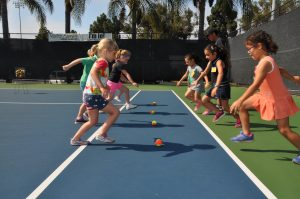 Kids Learning about Tennis At Paiva