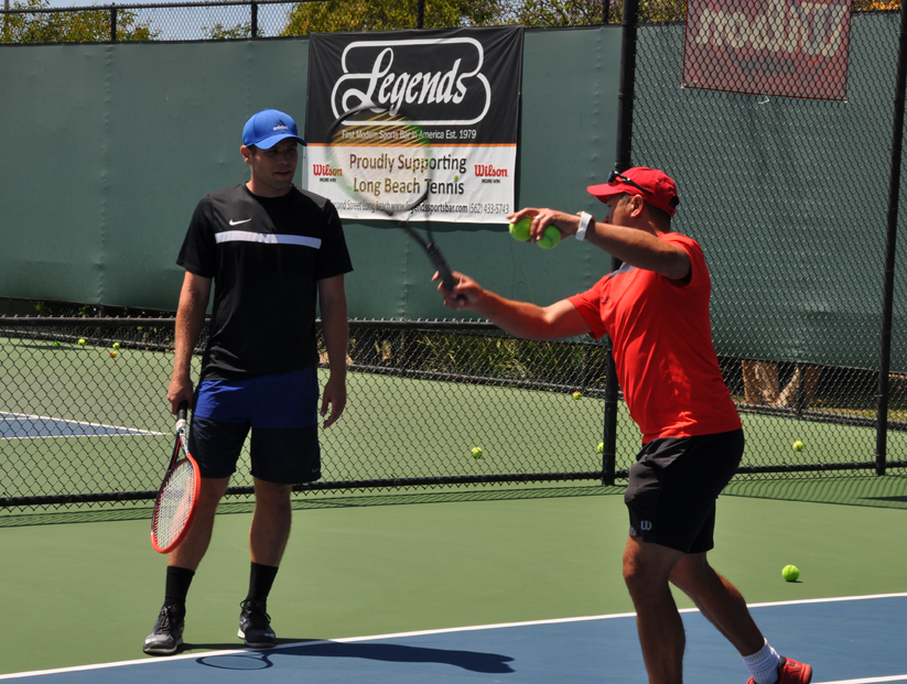 Adult Private Tennis Lesson Long Beach